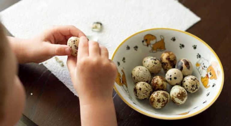 Перепелиные яйца детям