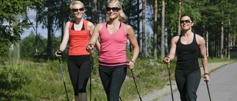 Скандинавская ходьба с палками