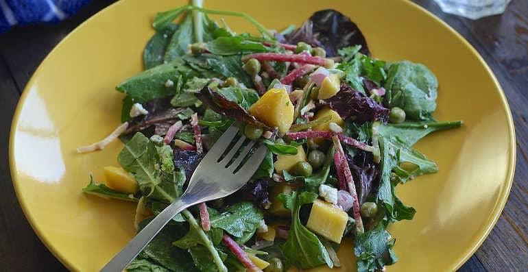 Салат с рыжиковым маслом